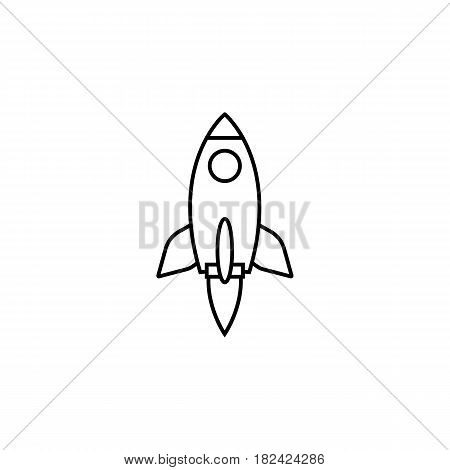 Start up line icon, seo and development, Rocket sign, a linear pattern on a white background, eps 10.