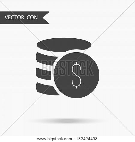 Vector business icon cents. Icon for for annual reports charts presentations workflow layout banner number options step up options web design. Contemporary flat design.
