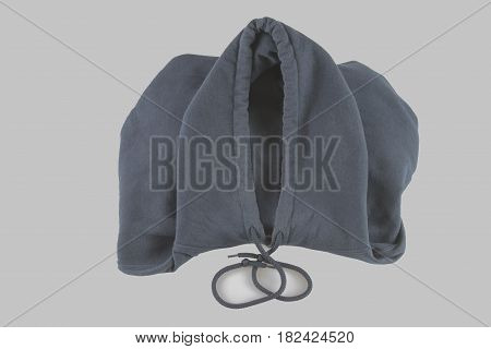 Brown jacket isolated on a white background closeup