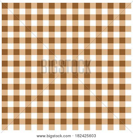 A vector illustration of a brown Tablecloth.