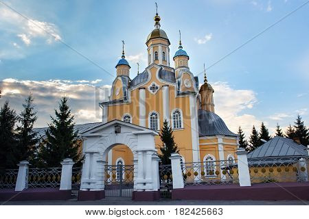 The Orthodox Cathedral of Saints Peter and Paul in Petropavl northern Kazakhstan. The building was built at the beginning of the XIX century.