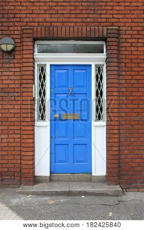 One typical Georgian door in Dublin, Ireland