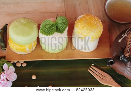 festival moon cake - Chinese cake and tea