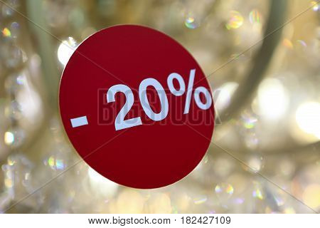 Discounted Sign On Glass