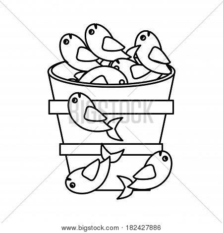fish pot miracle jesus christ religious outline vector illustration eps 10
