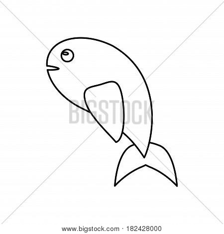 fish miracle jesus christ religious outline vector illustration eps 10
