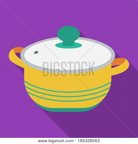 Stockpot icon in flate style isolated on white background. Kitchen symbol vector illustration.