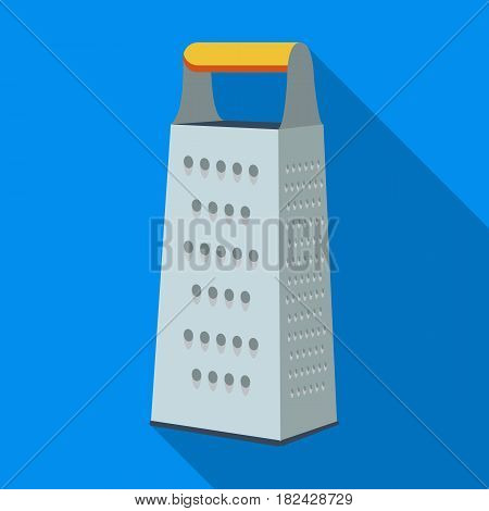 Grater icon in flate style isolated on white background. Kitchen symbol vector illustration.