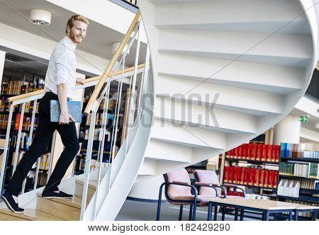 To climb the ladder you have to have knowledge and to have knowledge you have to study in a library