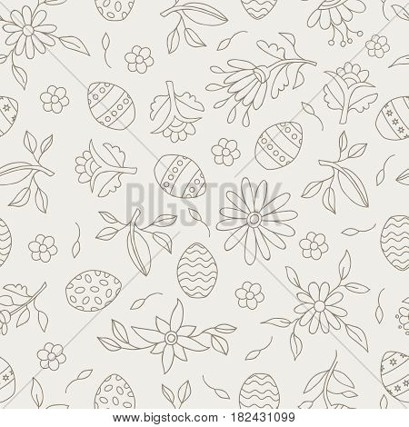 Easter Season Seamless Pattern Background