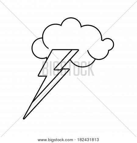 cloud lightning idea outline vector illustration eps 10