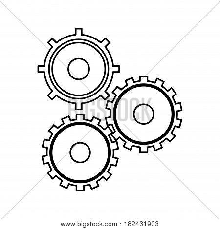 gears cogs teamwork outline vector illustration eps 10