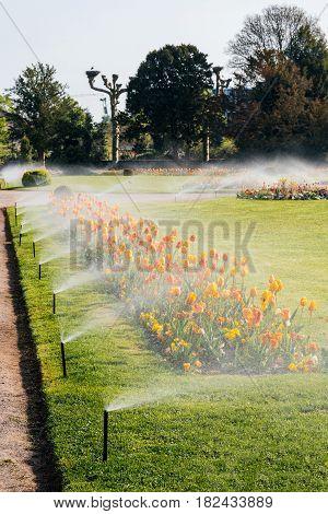 Spart Garden With Working Sprinkler Irrigation System,