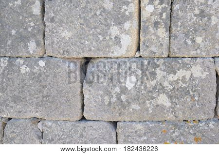Background of wall of stones in Galicia Spain