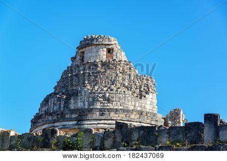 Dome Of Chichen Itza Observatory
