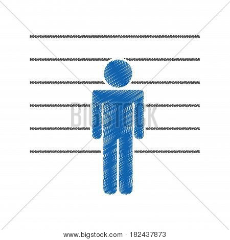 prisoner silhouette isolated icon vector illustration design