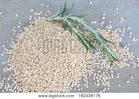 Organic Quinoa (Chenopodium quinoa) seeds. Healthy vegan food.