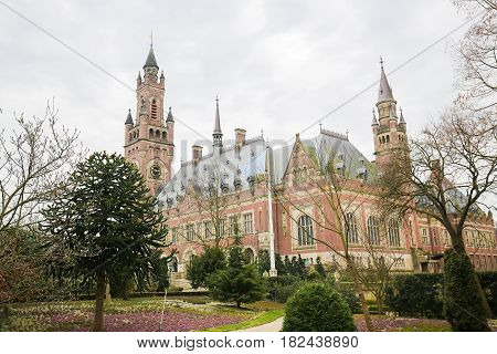 Peace Palace In The Hague, The Netherlands