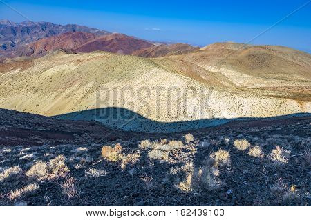 Wonderful Scenic Point Dantes View In The Mountains Of Death Valley, East Side