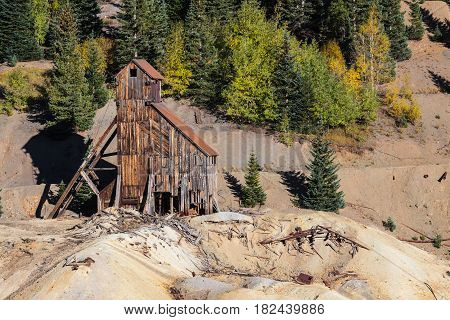 Abandoned Silver Mine near Red Mountain Colorado