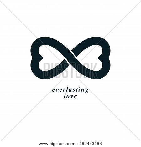 Infinite Love Concept, Vector Symbol Created With Infinity Sign And Male Mars An Female Venus Signs.