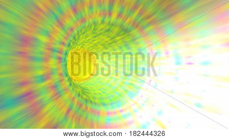 ray traced striped coloured vortex cloud tunnel