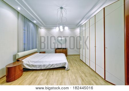 Russia, Moscow region - the interior design bedroom in  new flats