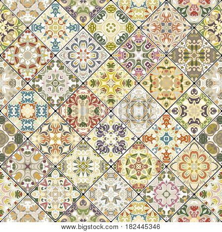 Square Scraps In Oriental Style.