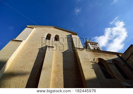 German Lutheran Church of the Redeemer in old city of Jerusalem Israel.