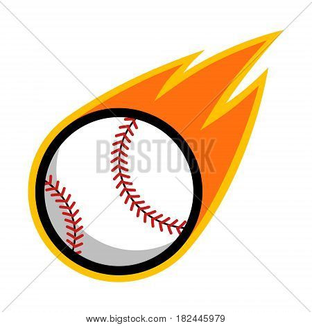 Baseball sport comet fire tail flying logo