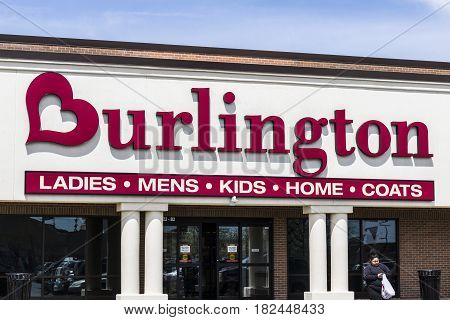 Fort Wayne - Circa April 2017: Burlington Coat Factory Strip Mall Location. Burlington is an American national off price department store retailer II