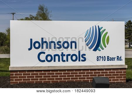 Fort Wayne - Circa April 2017: Johnson Controls Location. Johnson Controls has recently merged with Tyco International I