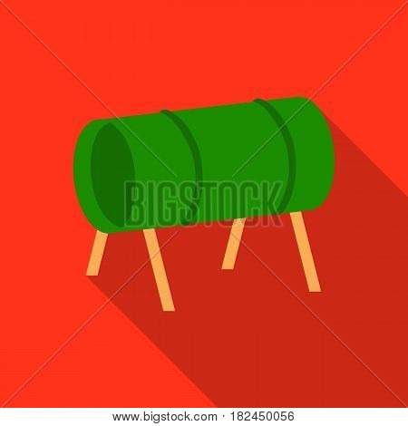 Playground tunnel icon in flat style isolated on white background. Play garden symbol vector illustration.