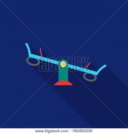 Seesaw icon in flat style isolated on white background. Play garden symbol vector illustration.