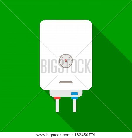 Boiler icon in flat style isolated on white background. Plumbing symbol vector illustration.