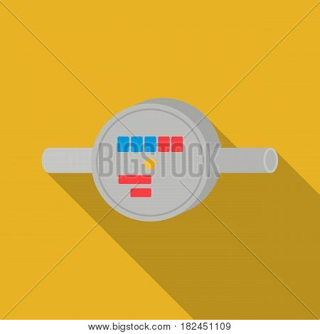 Water meter icon in flat style isolated on white background. Plumbing symbol vector illustration.