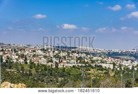 View of Mevaseret Zion Jerusalem Mevaseret-Zion suburb of Jerusalem