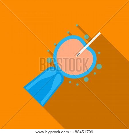 Artificial insemination icon in flat style isolated on white background. Pregnancy symbol vector illustration.