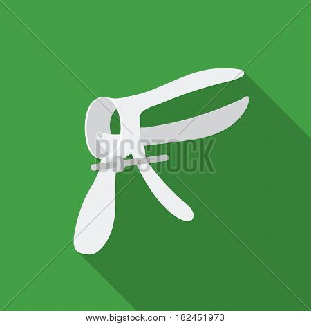 Speculum icon in flat style isolated on white background. Pregnancy symbol vector illustration.