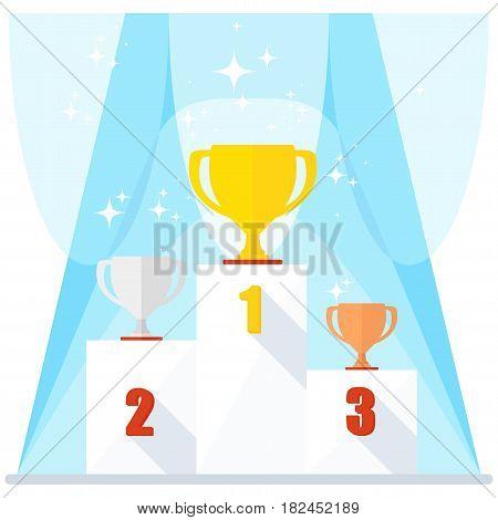 Shining Winner Podium