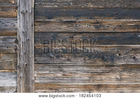 Detailed Fragment Of Wooden Backdrop With Impressive Structure, Background