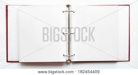 open photo album blank pages - ring binder file