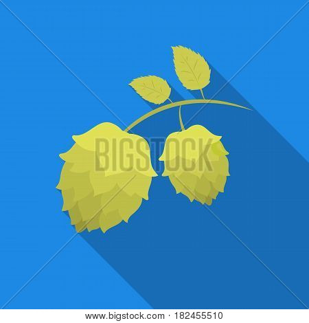 Hops icon in flat style isolated on white background. Oktoberfest symbol vector illustration.