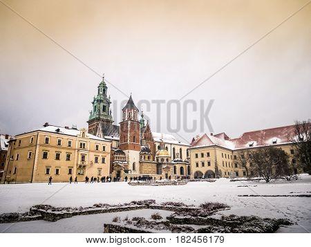 Royal Wawel Castle In Krakow, Poland