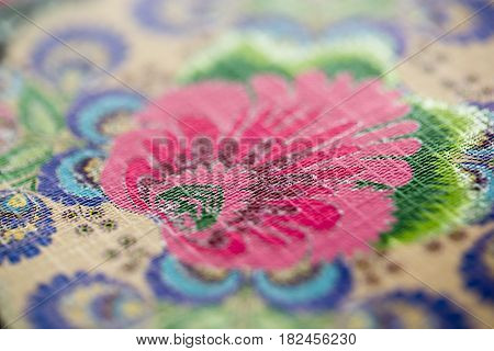 Close Up Of Floral Pattern