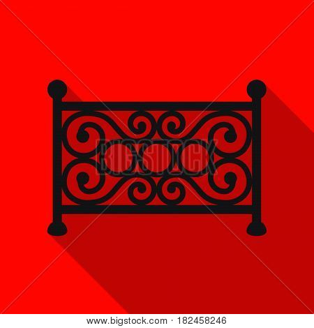 Fence icon in flat style isolated on white background. Park symbol vector illustration.