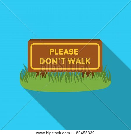 Please don't walk icon in flat style isolated on white background. Park symbol vector illustration.