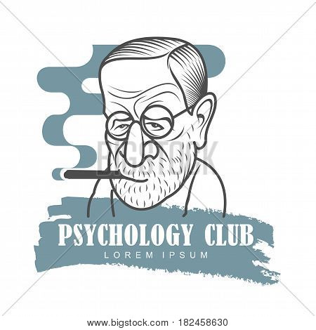 Cartoon Caricature Portrait Of Sigmund Freud