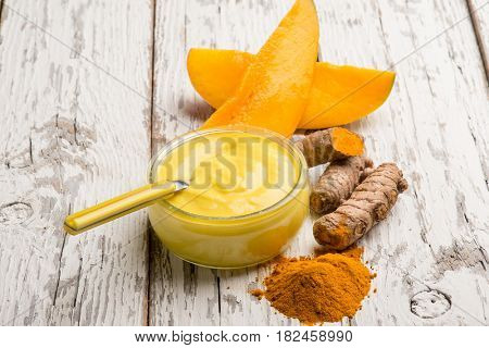 yogurt with mango and tumeric
