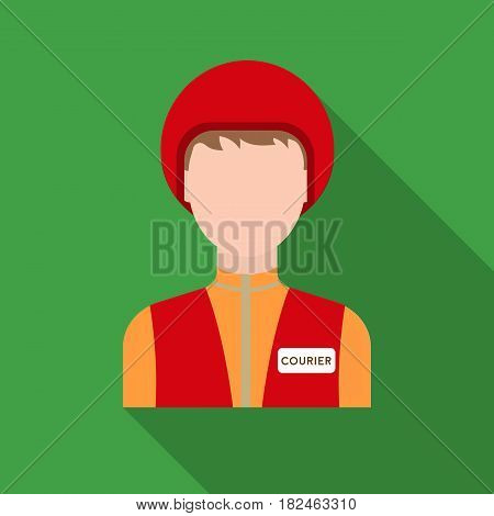 Courier icon in flat style isolated on white background. Pizza and pizzeria symbol vector illustration.